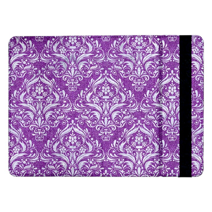 DAMASK1 WHITE MARBLE & PURPLE DENIM Samsung Galaxy Tab Pro 12.2  Flip Case