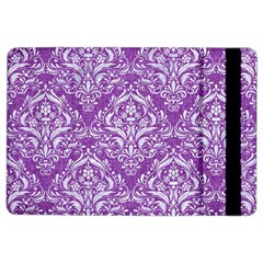 Damask1 White Marble & Purple Denim Ipad Air 2 Flip