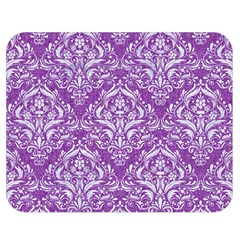 Damask1 White Marble & Purple Denim Double Sided Flano Blanket (medium)  by trendistuff