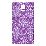 DAMASK1 WHITE MARBLE & PURPLE DENIM Galaxy Note 4 Back Case Front