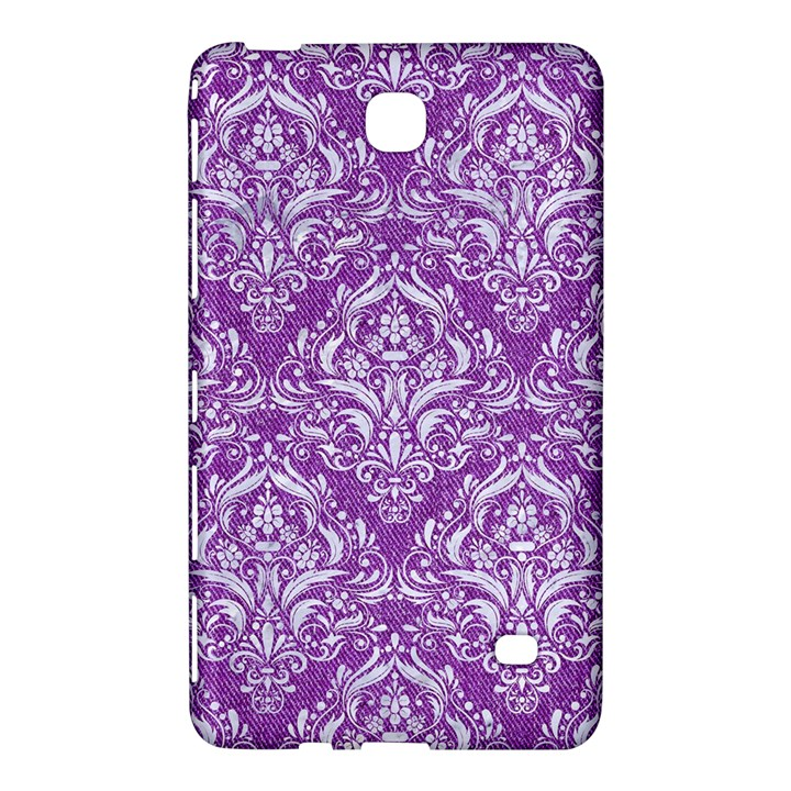 DAMASK1 WHITE MARBLE & PURPLE DENIM Samsung Galaxy Tab 4 (7 ) Hardshell Case