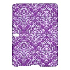 Damask1 White Marble & Purple Denim Samsung Galaxy Tab S (10 5 ) Hardshell Case