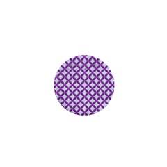 Circles3 White Marble & Purple Denim (r) 1  Mini Buttons