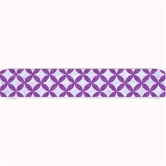 Circles3 White Marble & Purple Denim (r) Small Bar Mats