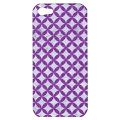 Circles3 White Marble & Purple Denim (r) Apple Iphone 5 Hardshell Case