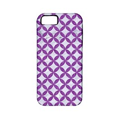 Circles3 White Marble & Purple Denim (r) Apple Iphone 5 Classic Hardshell Case (pc+silicone)