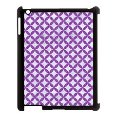 Circles3 White Marble & Purple Denim (r) Apple Ipad 3/4 Case (black)
