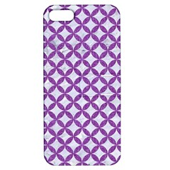 Circles3 White Marble & Purple Denim (r) Apple Iphone 5 Hardshell Case With Stand
