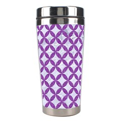 Circles3 White Marble & Purple Denim (r) Stainless Steel Travel Tumblers by trendistuff