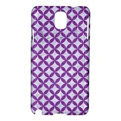 Circles3 White Marble & Purple Denim (r) Samsung Galaxy Note 3 N9005 Hardshell Case