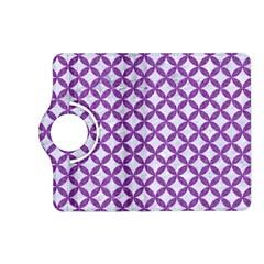 Circles3 White Marble & Purple Denim (r) Kindle Fire Hd (2013) Flip 360 Case