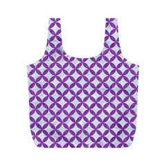 Circles3 White Marble & Purple Denim (r) Full Print Recycle Bags (m)  by trendistuff