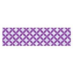 Circles3 White Marble & Purple Denim (r) Satin Scarf (oblong) by trendistuff