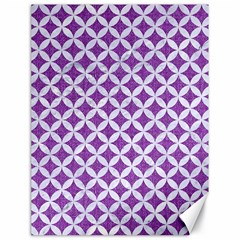 Circles3 White Marble & Purple Denim Canvas 18  X 24