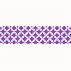Circles3 White Marble & Purple Denim Large Bar Mats
