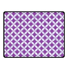 Circles3 White Marble & Purple Denim Fleece Blanket (small)