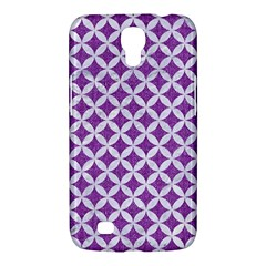 Circles3 White Marble & Purple Denim Samsung Galaxy Mega 6 3  I9200 Hardshell Case