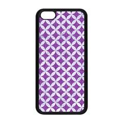 Circles3 White Marble & Purple Denim Apple Iphone 5c Seamless Case (black)