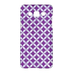 Circles3 White Marble & Purple Denim Samsung Galaxy A5 Hardshell Case
