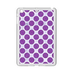 Circles2 White Marble & Purple Denim (r) Ipad Mini 2 Enamel Coated Cases