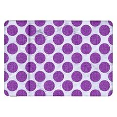Circles2 White Marble & Purple Denim (r) Samsung Galaxy Tab 8 9  P7300 Flip Case