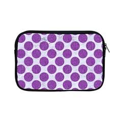 Circles2 White Marble & Purple Denim (r) Apple Ipad Mini Zipper Cases