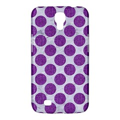 Circles2 White Marble & Purple Denim (r) Samsung Galaxy Mega 6 3  I9200 Hardshell Case
