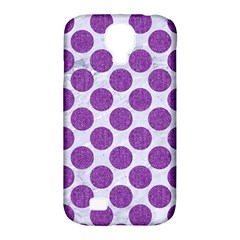 Circles2 White Marble & Purple Denim (r) Samsung Galaxy S4 Classic Hardshell Case (pc+silicone)