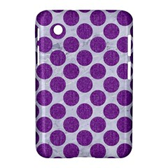 Circles2 White Marble & Purple Denim (r) Samsung Galaxy Tab 2 (7 ) P3100 Hardshell Case