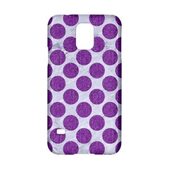 Circles2 White Marble & Purple Denim (r) Samsung Galaxy S5 Hardshell Case