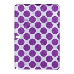 Circles2 White Marble & Purple Denim (r) Samsung Galaxy Tab Pro 10 1 Hardshell Case
