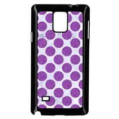 Circles2 White Marble & Purple Denim (r) Samsung Galaxy Note 4 Case (black)