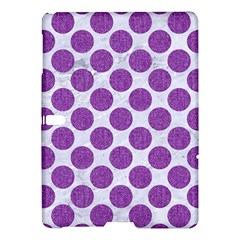 Circles2 White Marble & Purple Denim (r) Samsung Galaxy Tab S (10 5 ) Hardshell Case