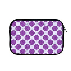 Circles2 White Marble & Purple Denim (r) Apple Macbook Pro 13  Zipper Case