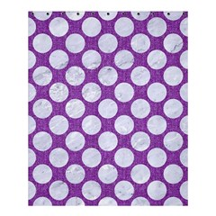 Circles2 White Marble & Purple Denim Shower Curtain 60  X 72  (medium)