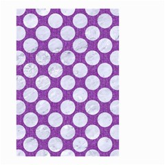 Circles2 White Marble & Purple Denim Small Garden Flag (two Sides)