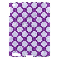 Circles2 White Marble & Purple Denim Apple Ipad 3/4 Hardshell Case