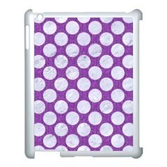 Circles2 White Marble & Purple Denim Apple Ipad 3/4 Case (white)