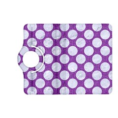 Circles2 White Marble & Purple Denim Kindle Fire Hd (2013) Flip 360 Case