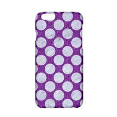 Circles2 White Marble & Purple Denim Apple Iphone 6/6s Hardshell Case