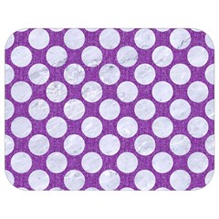 Circles2 White Marble & Purple Denim Full Print Lunch Bag by trendistuff