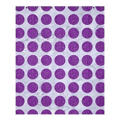 Circles1 White Marble & Purple Denim (r) Shower Curtain 60  X 72  (medium)
