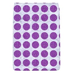 Circles1 White Marble & Purple Denim (r) Flap Covers (s)