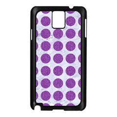 Circles1 White Marble & Purple Denim (r) Samsung Galaxy Note 3 N9005 Case (black)