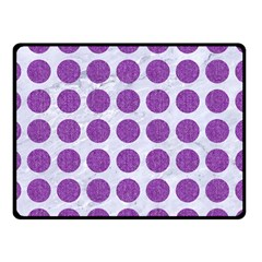 Circles1 White Marble & Purple Denim (r) Double Sided Fleece Blanket (small)
