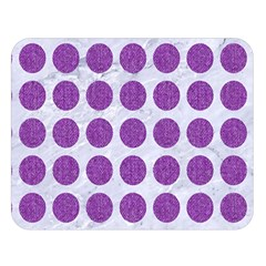 Circles1 White Marble & Purple Denim (r) Double Sided Flano Blanket (large)