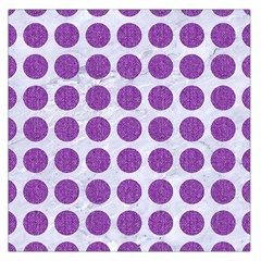 Circles1 White Marble & Purple Denim (r) Large Satin Scarf (square)