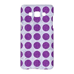 Circles1 White Marble & Purple Denim (r) Samsung Galaxy A5 Hardshell Case