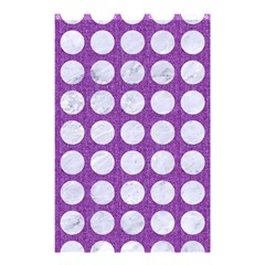 Circles1 White Marble & Purple Denim Shower Curtain 48  X 72  (small)  by trendistuff