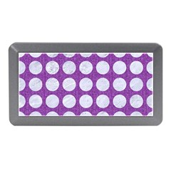 Circles1 White Marble & Purple Denim Memory Card Reader (mini) by trendistuff